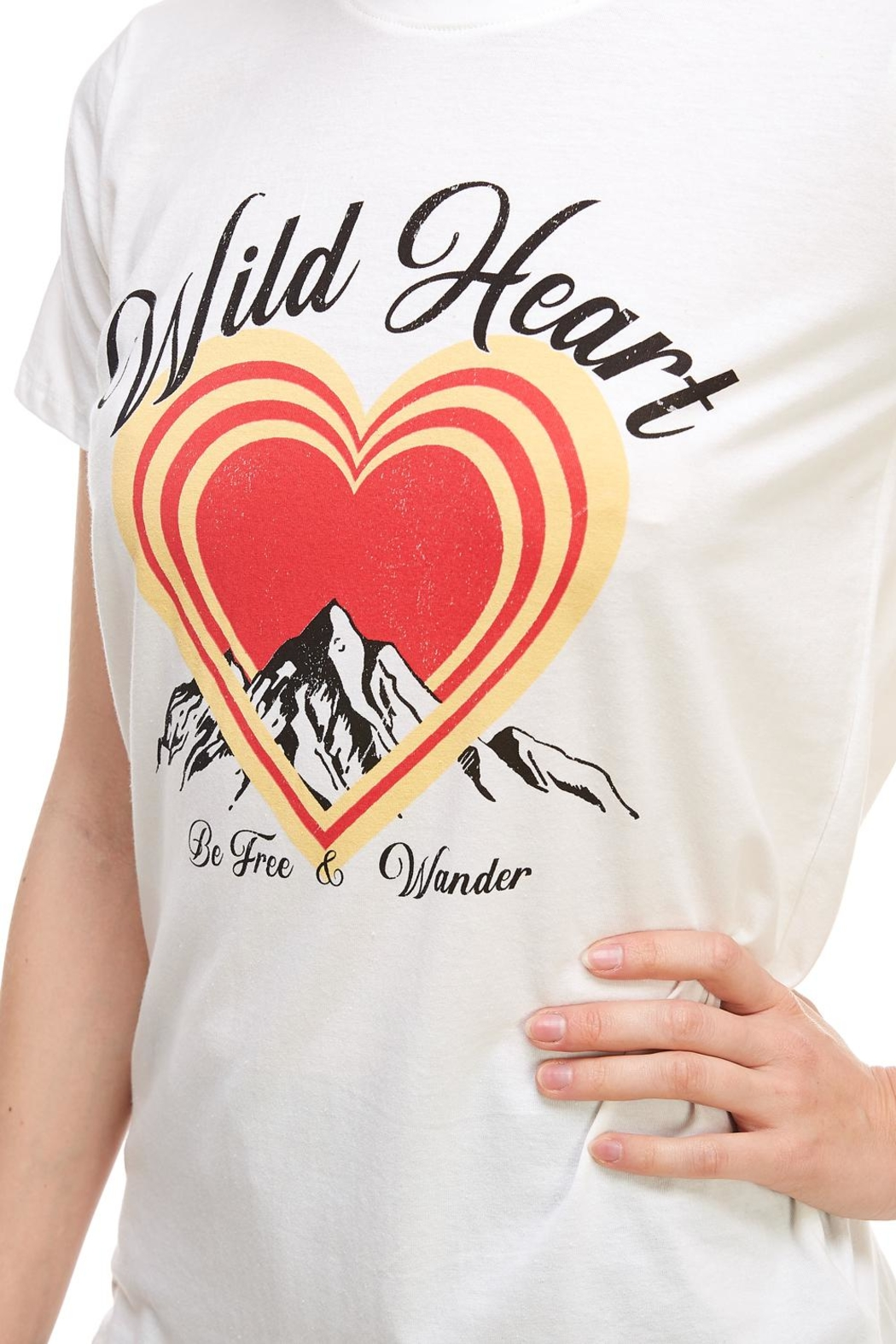 Tres Bien Wild-At-Heart Tee - Back Cropped Image