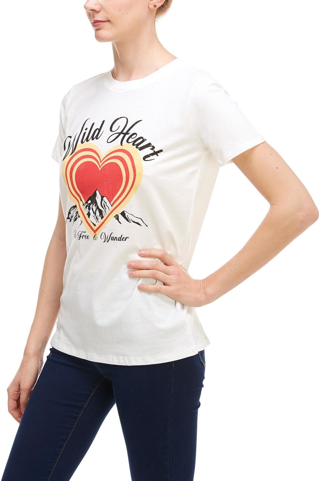 Tres Bien Wild-At-Heart Tee - Front Full Image