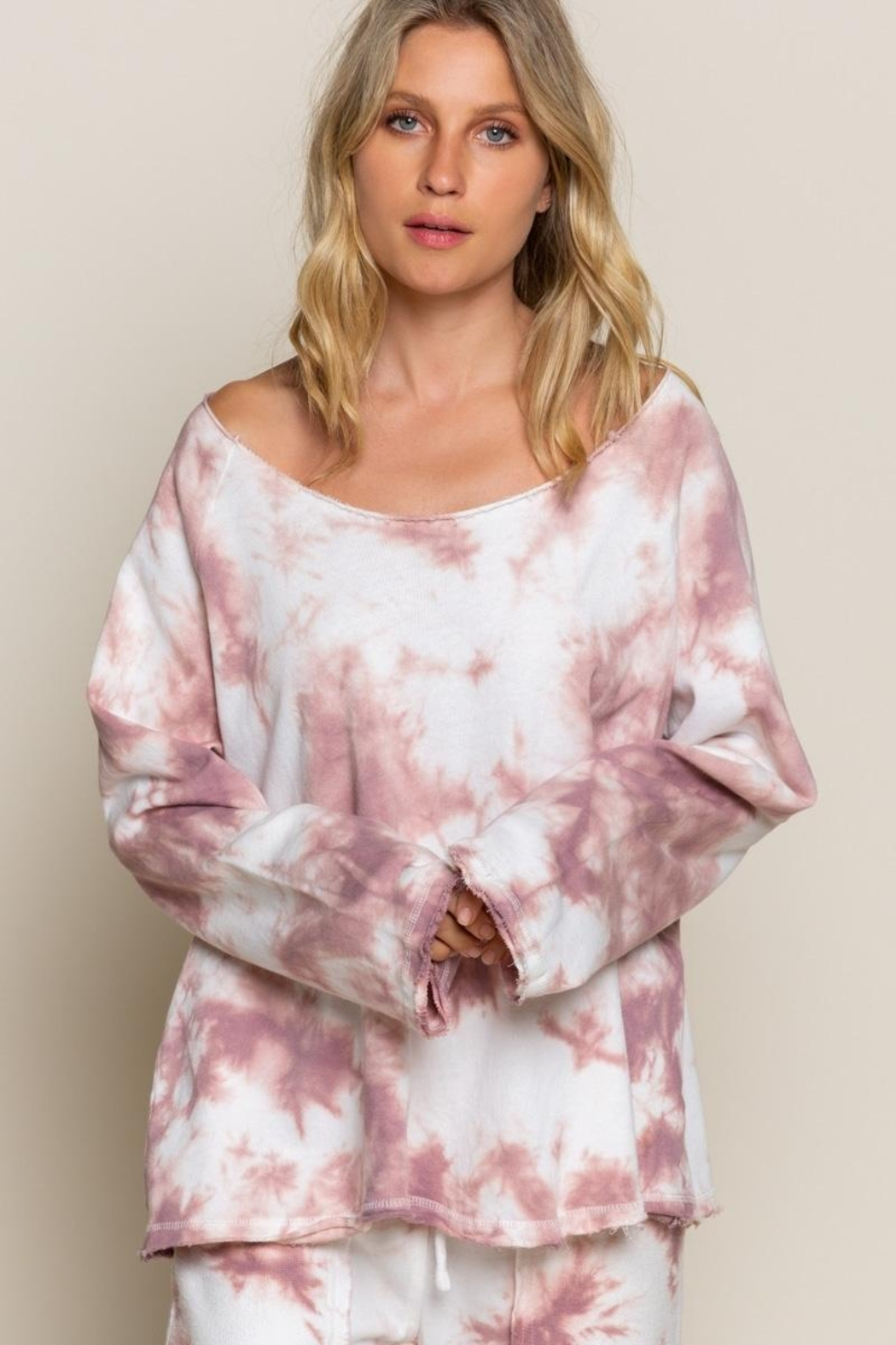 POL  Wild Berry Tie Dye Top - Front Cropped Image