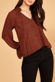 MINKPINK Wild Cat Blouse - Back cropped
