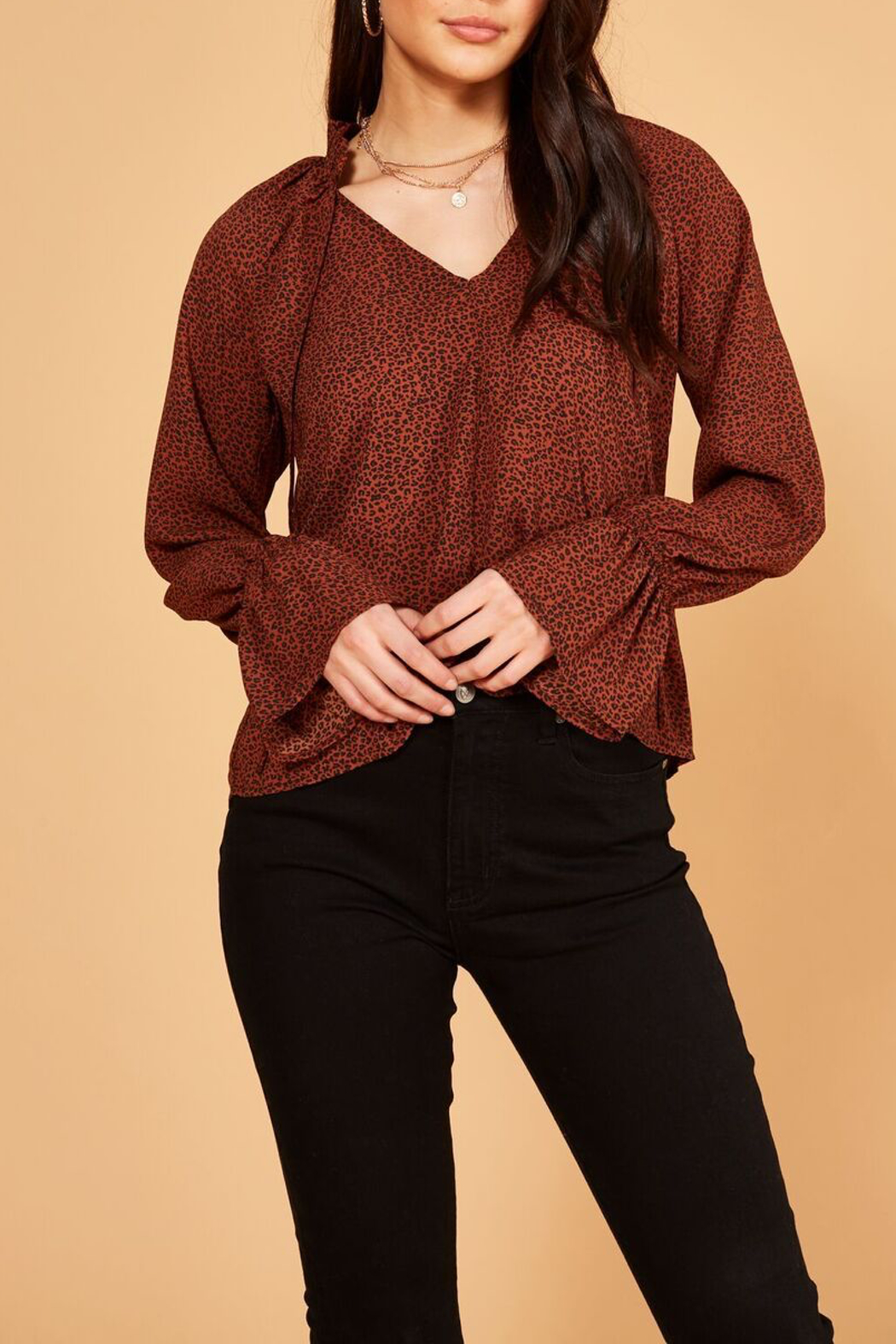 MINKPINK Wild Cat Blouse - Side Cropped Image