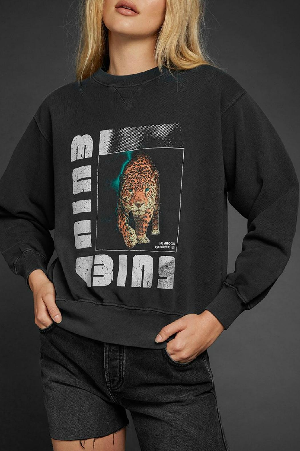 Anine Bing Wild Cat Sweatshirt - Main Image