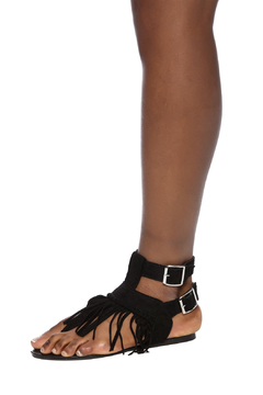 Wild Diva Fringe Sandals - Alternate List Image