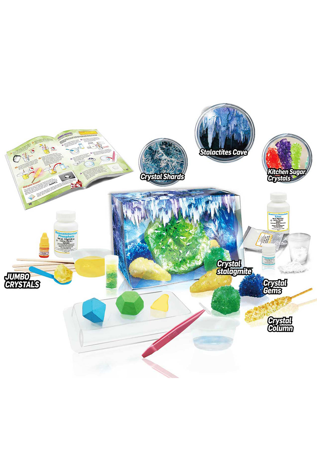 Learning Advantage Wild Environmental Science: Crystal Growing Caves & Geodes Chemical Kit - Front Full Image