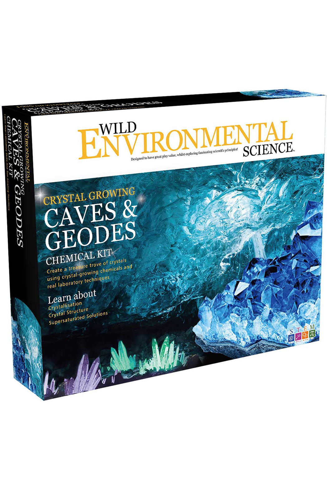 Learning Advantage Wild Environmental Science: Crystal Growing Caves & Geodes Chemical Kit - Main Image