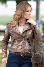 Montanaco Wild Flower Moto-Jacket - Product Mini Image