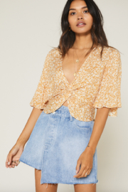 SAGE THE LABEL Wild Honey Knot Front Top - Product Mini Image