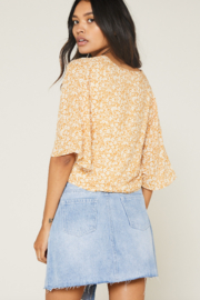 SAGE THE LABEL Wild Honey Knot Front Top - Front full body