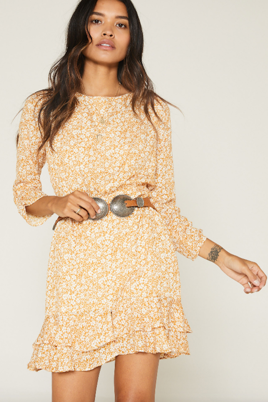 SAGE THE LABEL Wild Honey Mini Dress - Front Cropped Image