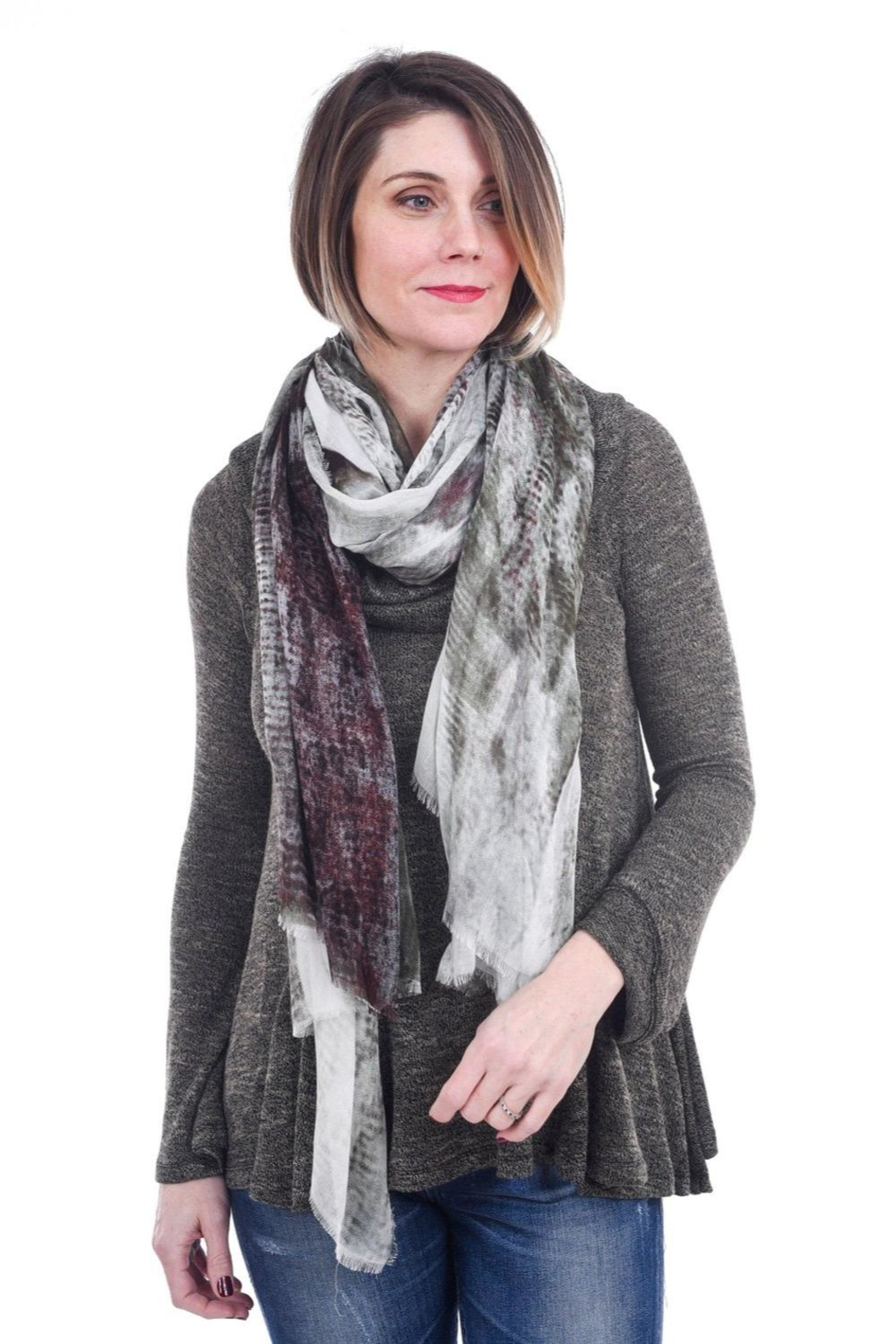 Blue Pacific Wild Horse Scarf - Main Image