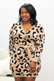 Entro Wild Night Out Leopard Print Dress - Product Mini Image