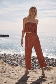 SAGE THE LABEL Wild One Cropped Pants - Front full body