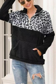 Esley Wild Side fleece pullover - Product List Image