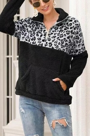 Esley Wild Side fleece pullover - Front cropped