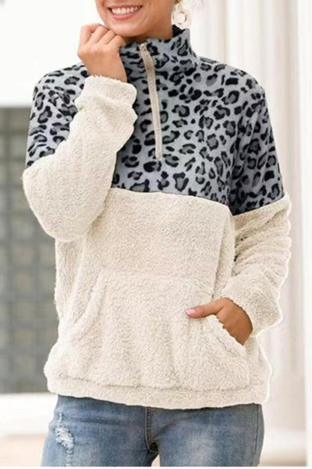 Esley Wild Side fleece pullover - Front Cropped Image