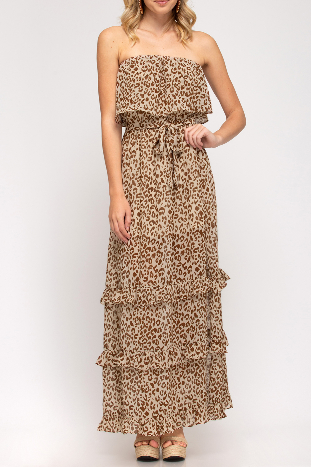 She and Sky Wild Summer maxi dress - Front Cropped Image