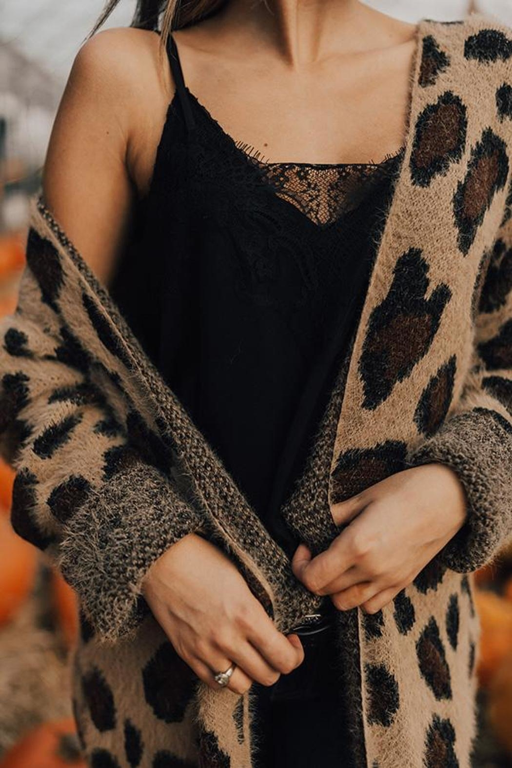 She + Sky Wild Thing Cardigan - Side Cropped Image