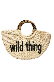 BTB Los Angeles  Wild Thing Straw Tote - Front cropped