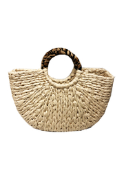 BTB Los Angeles  Wild Thing Straw Tote - Front full body