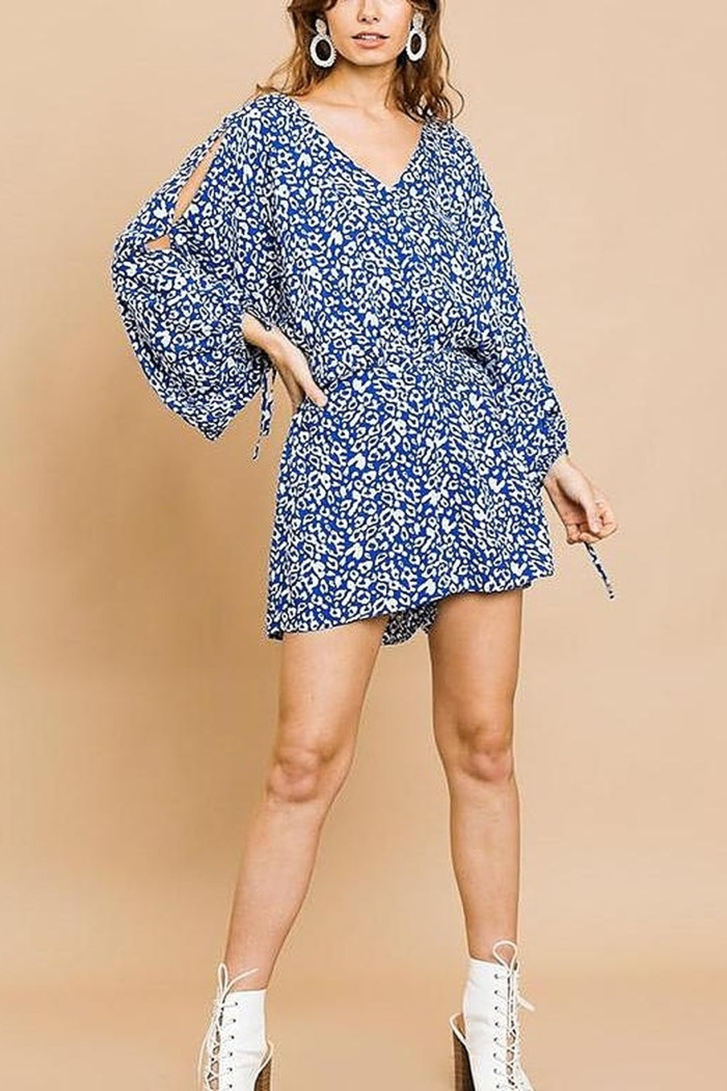 Umgee Wild Times romper - Front Cropped Image