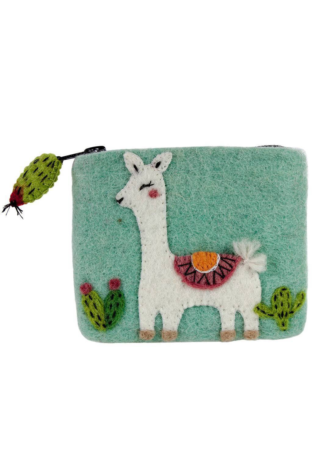 DZI Handmade Wild Woolies Happy Llama Coin Purse - Main Image