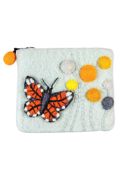 Shoptiques Product: Wild Woolies Monarch Butterfly Coin Purse