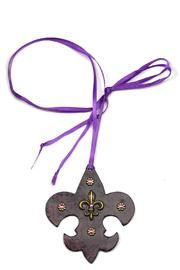 Wild Beast Leather Fleur-De-Lis Pendant - Product Mini Image