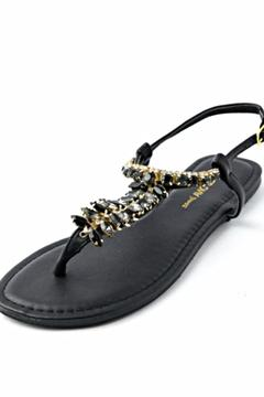 Wild Diva Black Stone Sandal - Alternate List Image