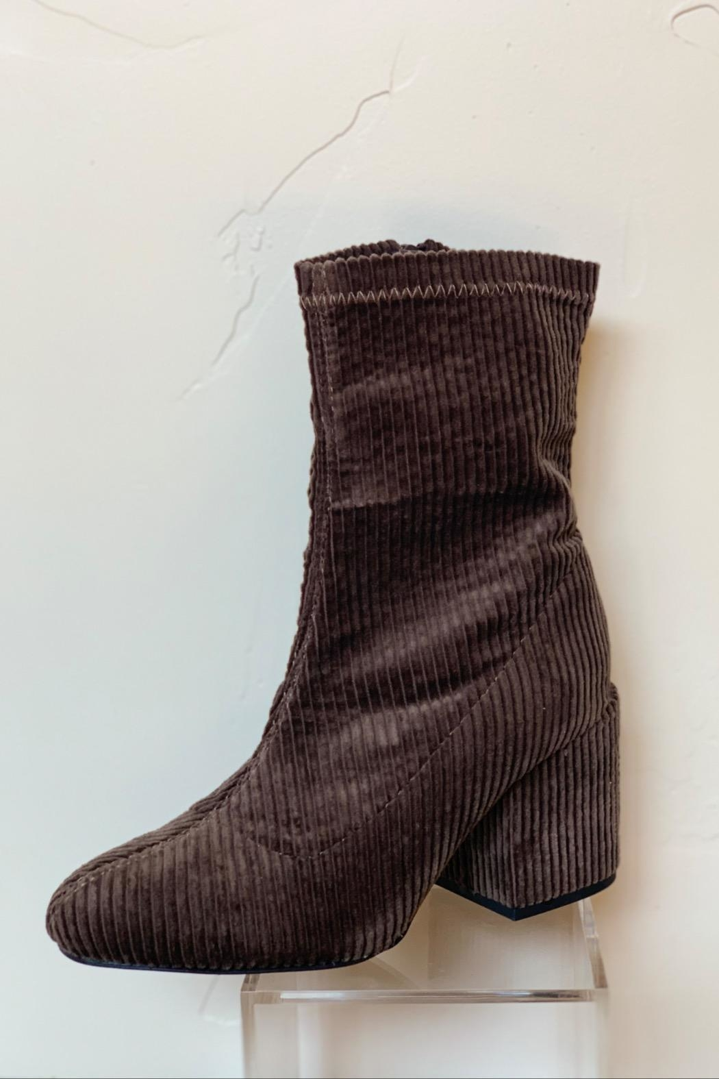 Wild Diva Corduroy Bootie - Front Cropped Image