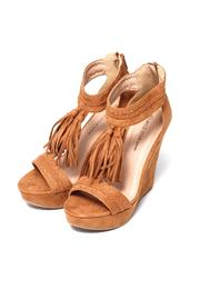 Wild Diva Fringed Suede Wedge - Other
