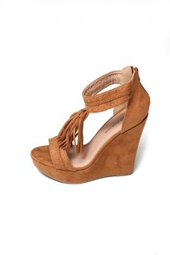 Wild Diva Fringed Suede Wedge - Alternate List Image