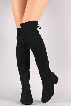Shoptiques Product: Laced Thigh-High Boots