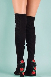 Wild Diva Rosette  Boots - Front cropped