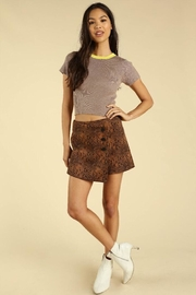 Wild Honey Asymmetrical Snake Skin Skirt With Buttons - Product Mini Image