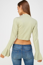 Wild Honey Bell Sleeve Sweater - Back cropped