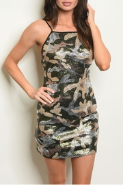 Wild Honey Camo Sequins Dress - Product Mini Image