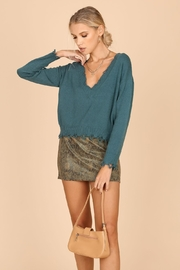 Wild Honey Cropped Distressed Sweater - Product Mini Image