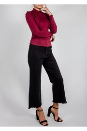 Wild Honey Cut-Off Black Jeans - Front cropped