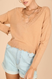 Wild Honey Distressed Cropped Sweater - Product Mini Image