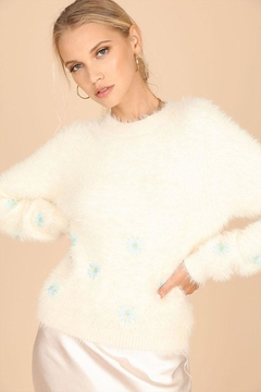 Shoptiques Product: Fuzzy Daisy Sweater