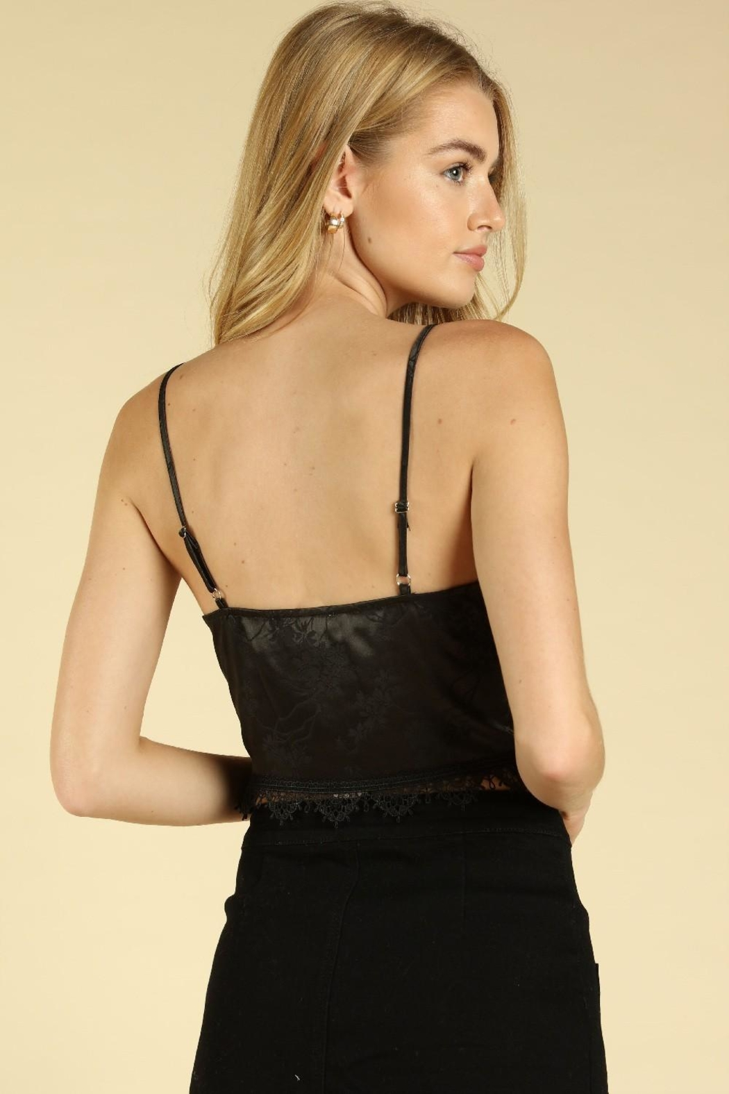 Wild Honey Lace Trim Crop-Top - Side Cropped Image
