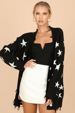 Shoptiques Product: Long Star Cardigan