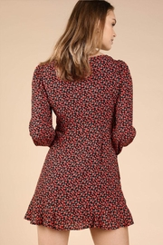 Wild Honey Patterned Mini Dress - Back cropped