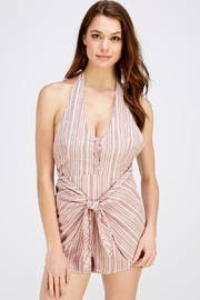 Wild Honey Pink Stripe Romper - Front cropped