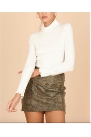 Wild Honey Ribbed Turtle Neck Crop Top - Product Mini Image