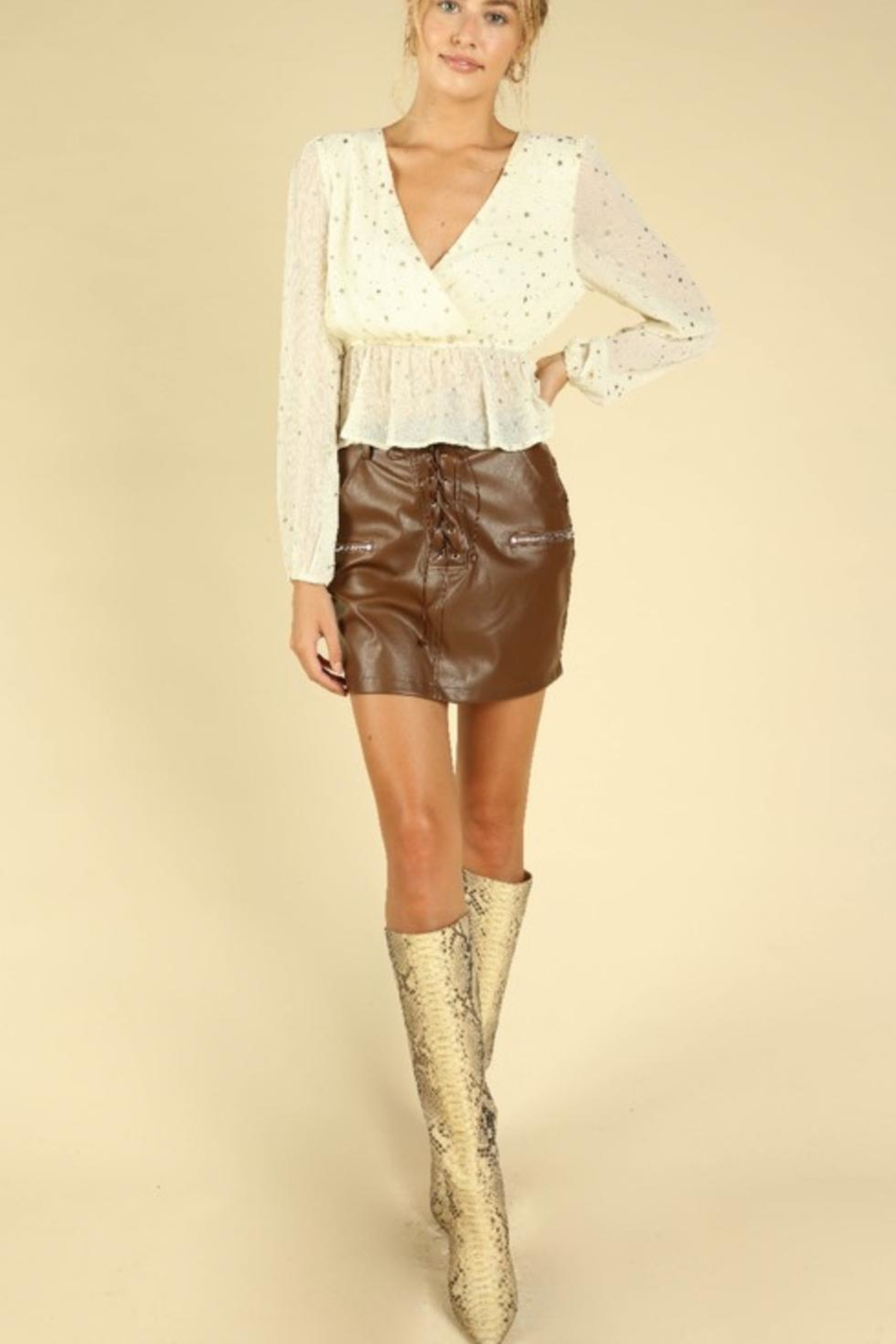 Wild Honey Seeing Stars Blouse - Side Cropped Image