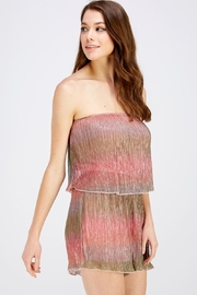 Wild Honey Shimmer Tube Romper - Side cropped