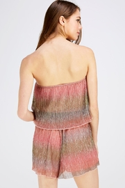Wild Honey Shimmer Tube Romper - Back cropped