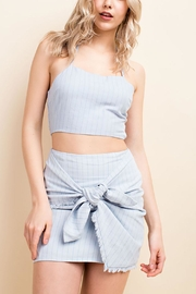 Wild Honey Stripe Wrap Skirt - Product Mini Image