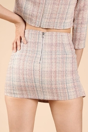 Wild Honey Tweed Mini Skirt - Back cropped